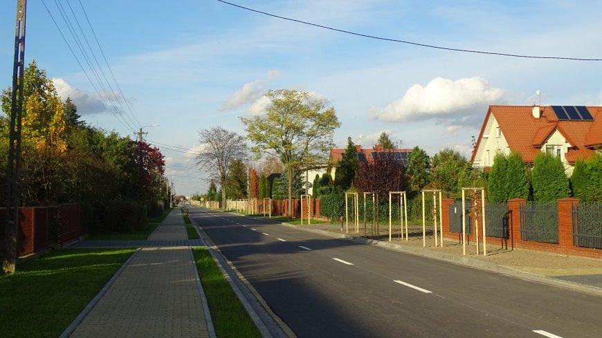 Zdjęcie przebudowanej drogi