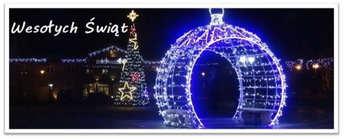 Zdjęcie iluminacji świątecznych