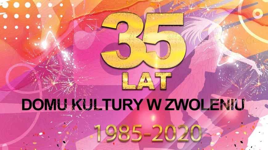 Logo jubileuszowe Domu Kultury w Zwoleniu